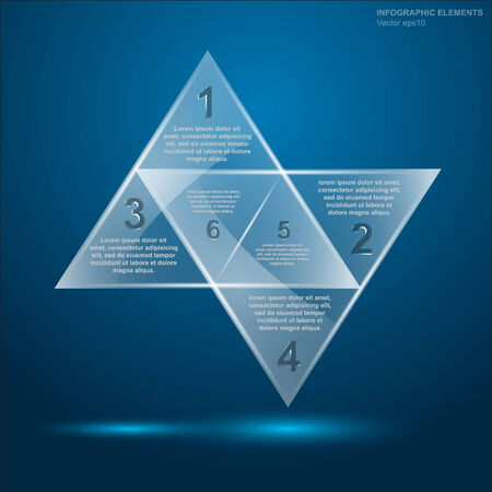 glass triangle infographic Vector