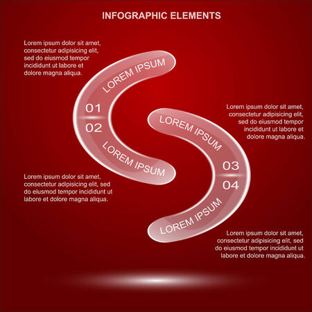 infographic template with glass elements illustration Vector