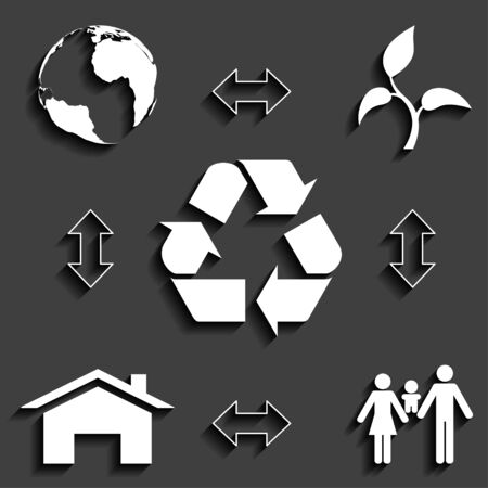 ecological concept, waste recycling