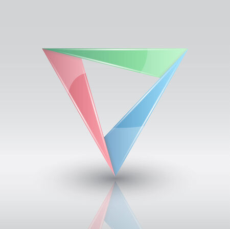 color glass triangle infographic Vector