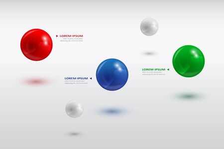 infographic template with color balls of different sizes Vector