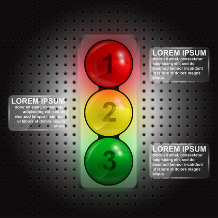 infographic template in form of traffic lights Vector