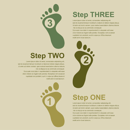infographic template for presentation with human footsteps Vector