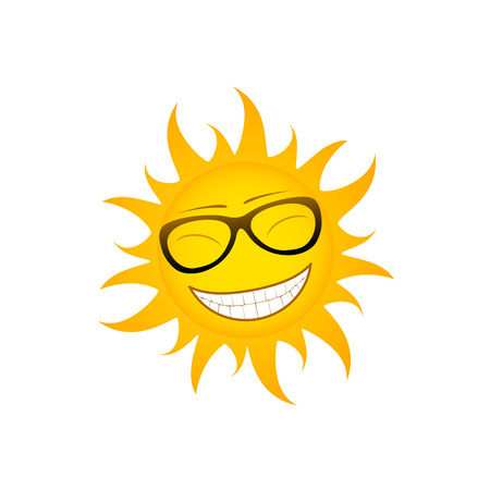 picture of cherful funky sun Stock Vector - 25070879