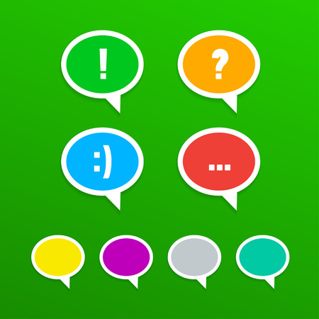 set of speech bubbles icons, vector eps 10 illustration Vector