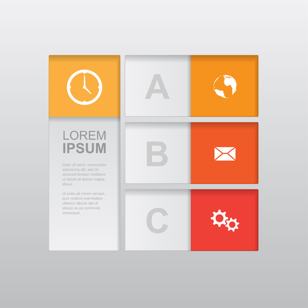 abstract invographic template, can be used for workflow layout, diagram, number options, web design, business presentation and report  Vector
