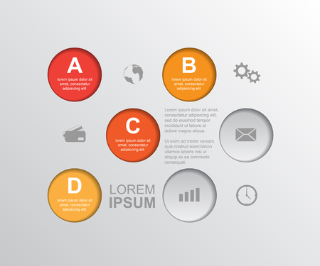 abstract infographic template, can be used for workflow layout, diagram, number options, web design, business presentation and report  Vector