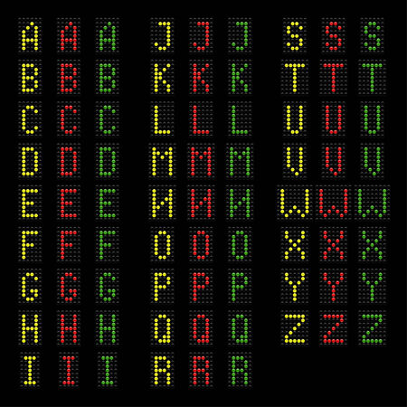 light bulds ABC alphabet, vector eps 10 illustration Stock Vector - 25971749