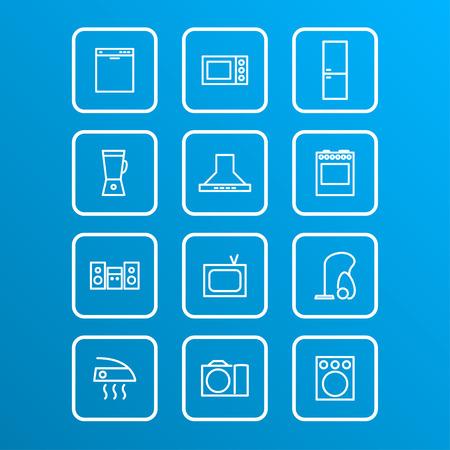 Définir des appareils ménagers icônes, vecteur eps 10 illustrations