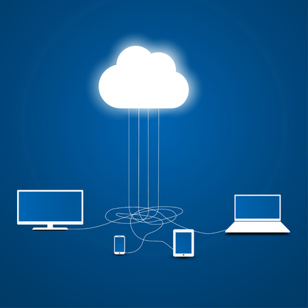 cloud computing concept, infographic template, Vector