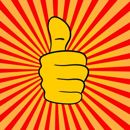 human hand showing thumbs up Vector