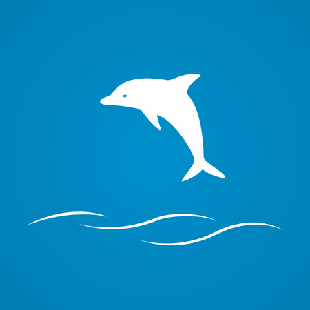 picture of dolphin Vector
