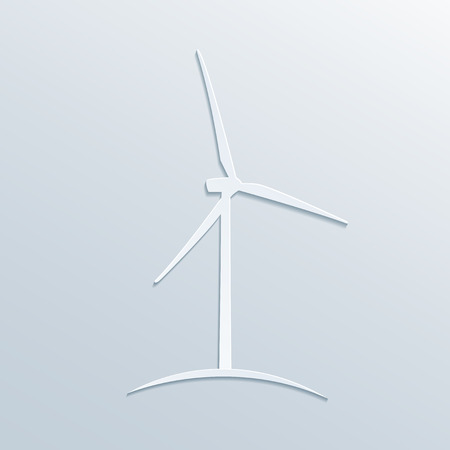 windpower: picture of paper windmill sillhouette, vector eps 10 illustration Illustration
