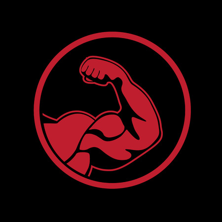 bicep: picture of bodybuilder Illustration