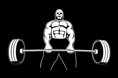 picture of bodybuilber lifting weight