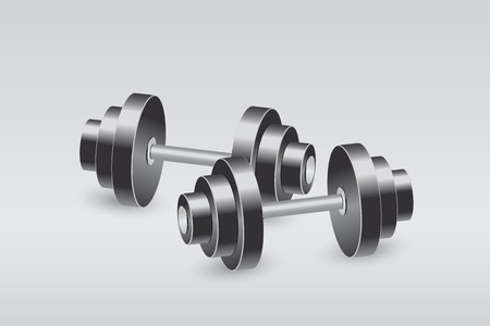 picture of two dumbbels Vector