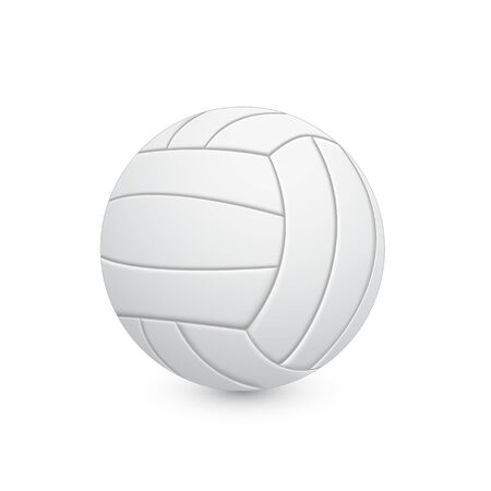 picture of volleyball ball on white background Vector