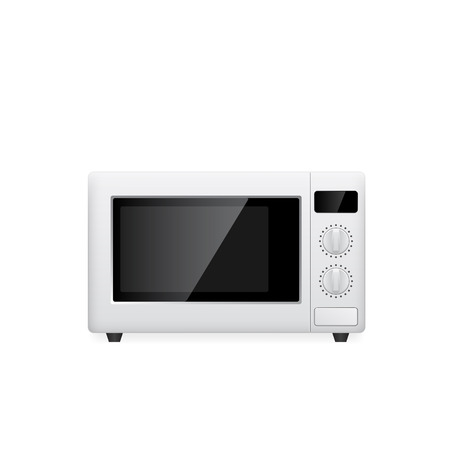 microwave oven: micture of microwave oven on white background, vector eps 10 illustration