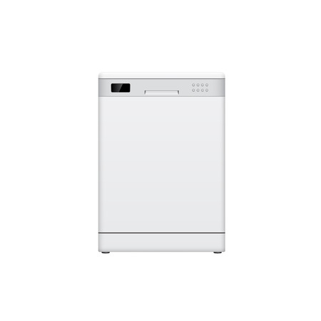 picture of dish washing machine on white background Vector