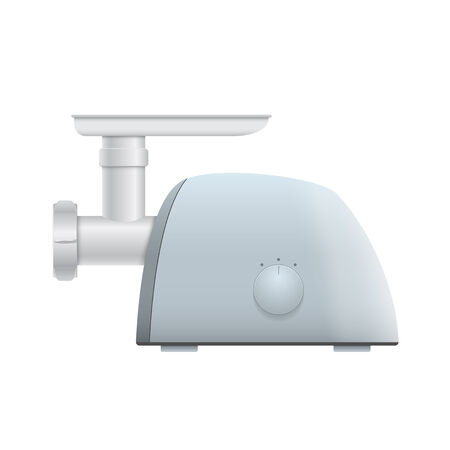 mincer: picture of meat grinder on white background