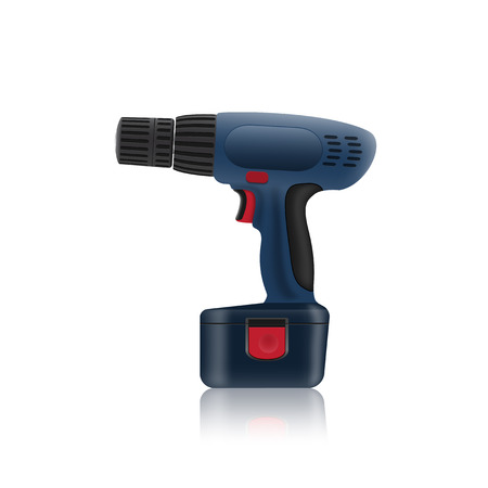 cordless: picture of cordless screwdriver on white background
