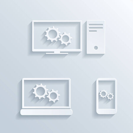 set of computers icons Stock Vector - 29082077