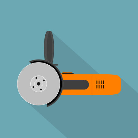 angle grinder: picture of angle grinder, flat style icon