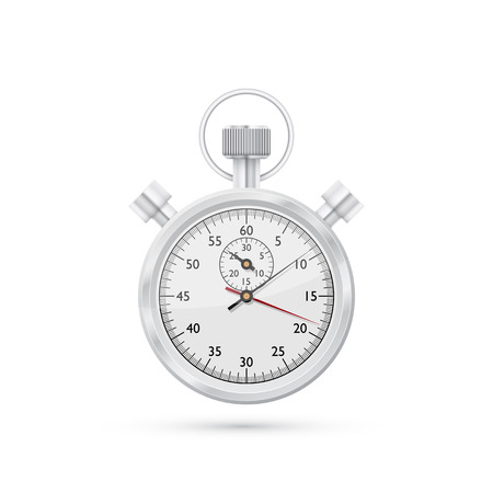 stop watch: photorealistic vector picture of stop watch isolated on white background
