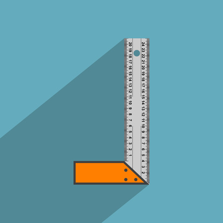 grey scale: vector picture of angle ruler, flat style icon Illustration