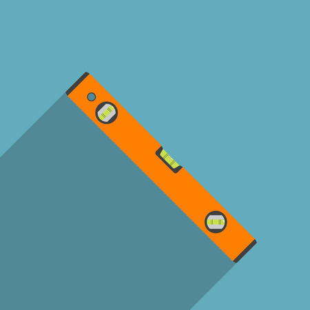 water level: vector picture of level tool, flat style icon Illustration
