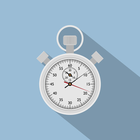 stop watch: vector picture of stop watch, flat style icon Illustration