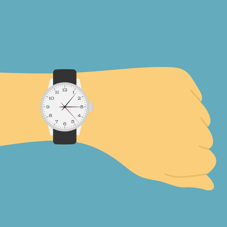 wrist watch: picture of a human hand with watch