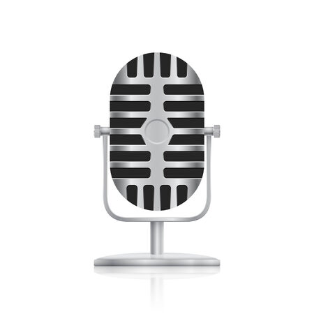 picture of studio microphone on white background Illustration