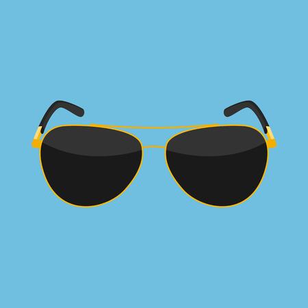 Immagine di un occhiali da sole, icona di stile piatta Vettoriali