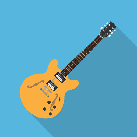 picture of electric guitar, flat style illustration Illustration