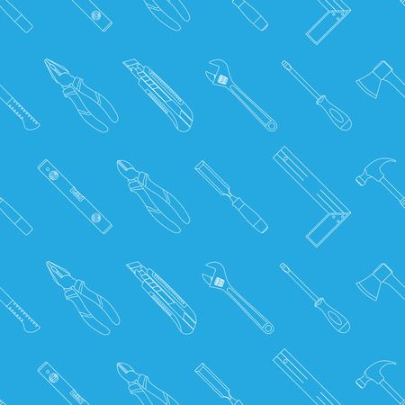 patern: background with set of tools icons, seamless patern