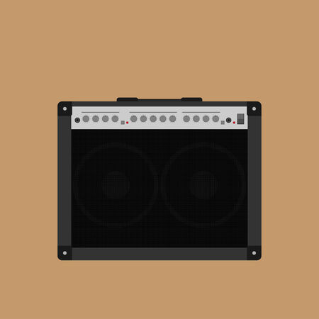 amps: picture of guitar combo amplifyer, flat style illustration