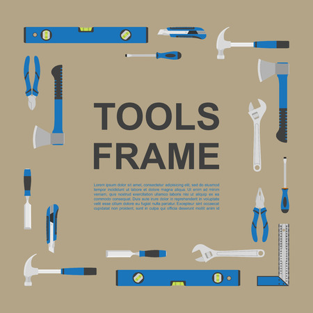 abstract background with frame with tools icons