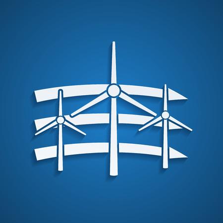 converter: picture of wind turbines, alternative energy concept