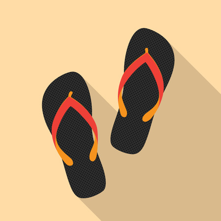flipflop: picture of a sandals pair, flat style illustration Illustration