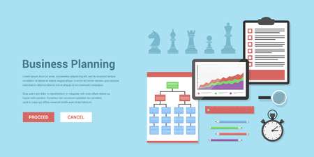 design graphic: Flat style concept banner of business planning and strategy concept Illustration