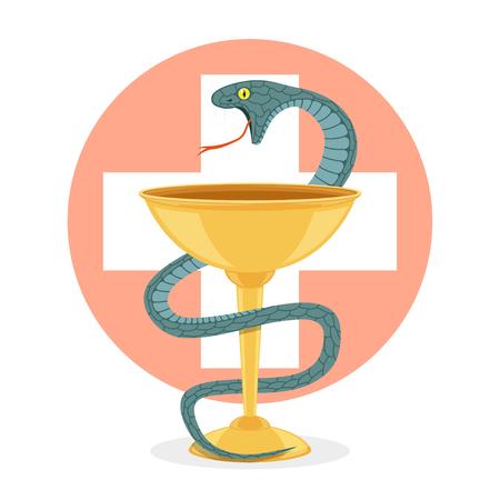 snake and bowl Illustration