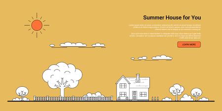 Summer house banner