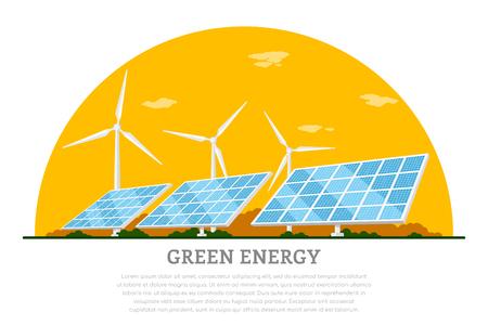 Groen energieconcept.