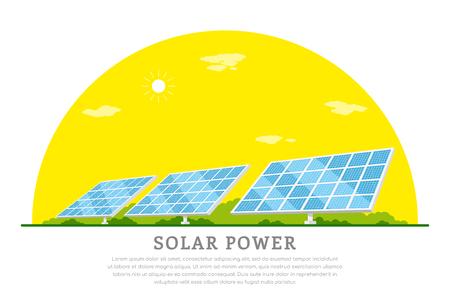 Solar energy concept. Illustration