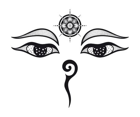Buddha eyes design 矢量图片