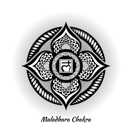 Muladhara chakra design Illustration