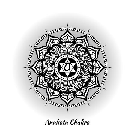 Anahata chakra design Illustration