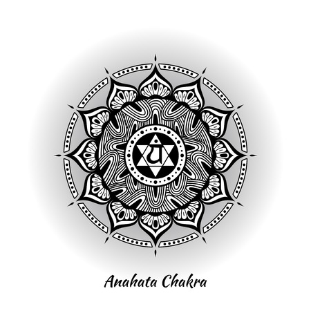 Anahata chakra design Illustration