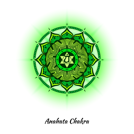 Anahata chakra design Stock Photo